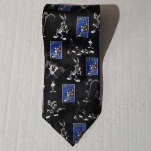 Vintage Looney Toons Bugs Bunny Stamp Tie